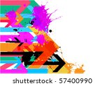 abstract grunge background | Shutterstock .eps vector #57400990
