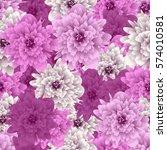 seamless pattern flower.... | Shutterstock .eps vector #574010581