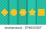 vintage different vector... | Shutterstock .eps vector #574015207