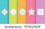 cute bright seamless pattern... | Shutterstock .eps vector #574015429