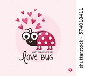 cute vector love card in red... | Shutterstock .eps vector #574018411