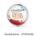 sale tag stickers with 50 ... | Shutterstock .eps vector #57402160