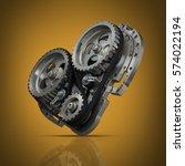 concept mechanical heart v8 ... | Shutterstock . vector #574022194