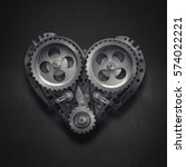 concept mechanical heart v8 ... | Shutterstock . vector #574022221