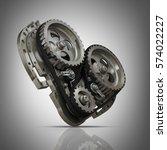 concept mechanical heart v8 ... | Shutterstock . vector #574022227