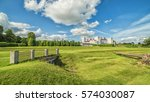 english summer panoramic... | Shutterstock . vector #574030087