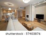 designer living room with... | Shutterstock . vector #57403876
