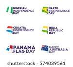 set flag theme holiday  ... | Shutterstock .eps vector #574039561