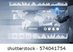 back view of businessman... | Shutterstock . vector #574041754