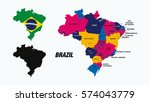 Stock vector brazil vector maps 574043779
