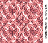 seamless faux ikat rug pattern | Shutterstock .eps vector #574049125