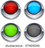 blank 3d round buttons. vector. | Shutterstock .eps vector #57405040
