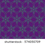 flower  geometric seamless... | Shutterstock .eps vector #574050709