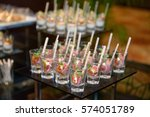 tuna sashimi in the cocktail... | Shutterstock . vector #574051789