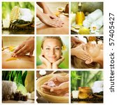 spa collage.dayspa concept | Shutterstock . vector #57405427