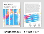 abstract vector layout... | Shutterstock .eps vector #574057474