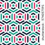 seamless pattern   modern... | Shutterstock .eps vector #574057591