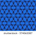 seamless decotative geometric... | Shutterstock .eps vector #574063387