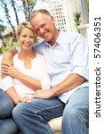 couple relaxing in garden   Shutterstock . vector #57406351