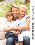 mother and children relaxing in ... | Shutterstock . vector #57406471