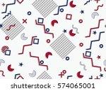 memphis seamless pattern....   Shutterstock .eps vector #574065001