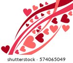 happy valentines day.... | Shutterstock .eps vector #574065049