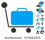 luggage trolley pictograph with ... | Shutterstock .eps vector #574065325