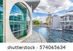 panoramic view of berlin...   Shutterstock . vector #574065634