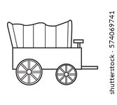 horse carriage wagon icon | Shutterstock .eps vector #574069741