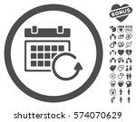 update calendar icon with bonus ... | Shutterstock .eps vector #574070629
