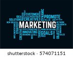 word of success marketing ... | Shutterstock .eps vector #574071151
