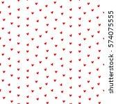 seamless heart pattern vector... | Shutterstock .eps vector #574075555