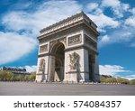 arc de triumph in paris  france ...   Shutterstock . vector #574084357