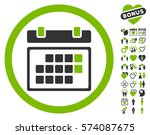 month calendar pictograph with... | Shutterstock .eps vector #574087675