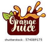 vector logo with a spray of... | Shutterstock .eps vector #574089175