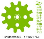 cogwheel pictograph with bonus... | Shutterstock .eps vector #574097761