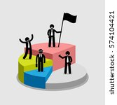 businessman standing on top of... | Shutterstock .eps vector #574104421