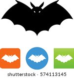 bat icon | Shutterstock .eps vector #574113145