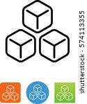 3 ice cubes symbol | Shutterstock .eps vector #574113355