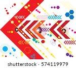 technology vector pattern on... | Shutterstock .eps vector #574119979