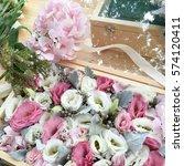 mini beautiful lovely flower...   Shutterstock . vector #574120411