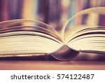 close up opened book page with... | Shutterstock . vector #574122487