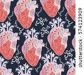 heart decorative vector...   Shutterstock .eps vector #574123909