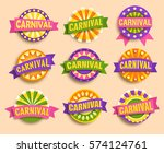 carnival festive labels signs... | Shutterstock .eps vector #574124761