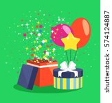 air ball balloon giftbox gift... | Shutterstock .eps vector #574124887
