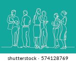 continuous line drawing of... | Shutterstock .eps vector #574128769