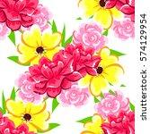 abstract elegance seamless... | Shutterstock . vector #574129954