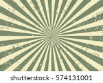 Sunburst vector with Grunge. green color.  - stock vector