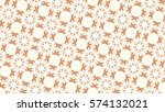 sloping melting colorful... | Shutterstock . vector #574132021
