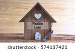 conceptual image of miniature... | Shutterstock . vector #574137421